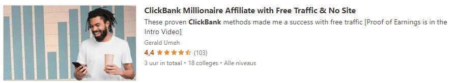 ClickBank Millionaire Affiliate with Free Traffic