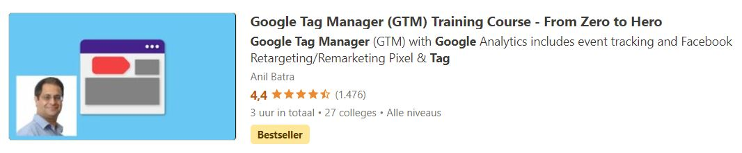 Google Tag Manager (GTM) Training Course - From Zero to Hero