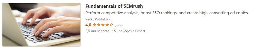 Fundamentals of SEMrush