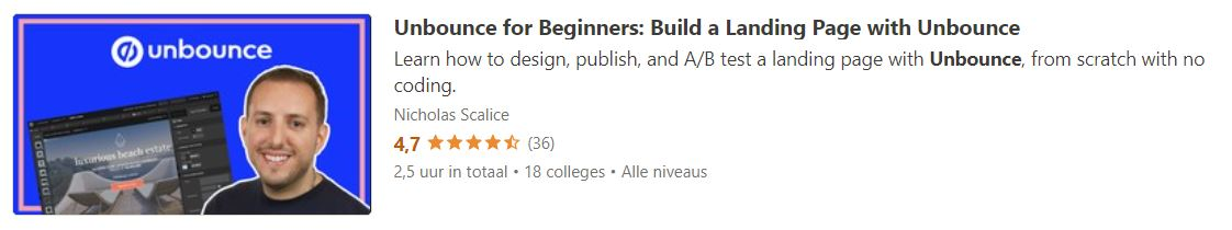 Unbounce for Beginners: Build a Landing Page with Unbounce